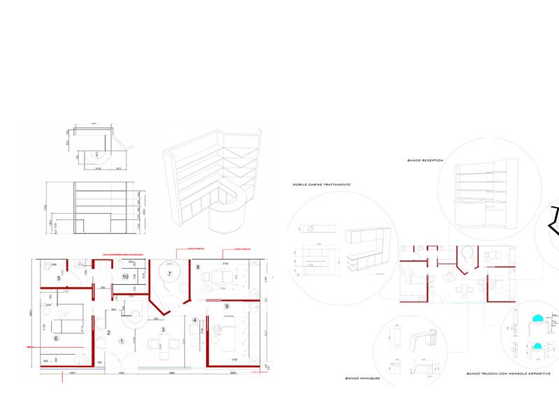 Progettazione ed arredamento centro benessere studi di for Arredamento estetista usato